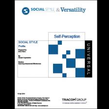 IPEV7000-Social Style Profile