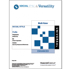 Universal SOCIAL STYLE Multi-Rater Profile