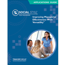 Managerial SOCIAL STYLE Applications Guide