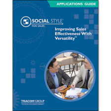 Sales SOCIAL STYLE Applications Guide