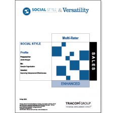 Sales SOCIAL STYLE Multi-Rater Profile ISEV9100