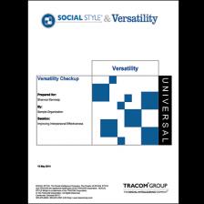 Social Style Versatility Checkup